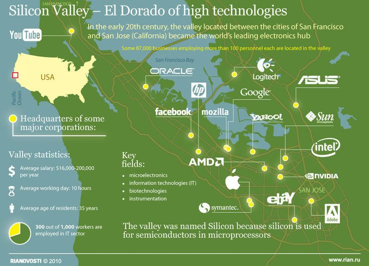 Silicon Valley Silicon valley, Geography map