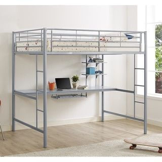 Shop for Silver Metal Full Loft Bed with Workstation. Get free delivery at Overstock.com - Your Online Furniture Outlet Store! Get 5% in rewards with Club O!