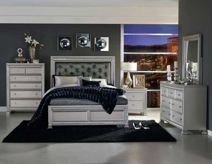 Homelegance - Bevelle 5 Piece California King Bedroom Set - 1958K-1CK-9