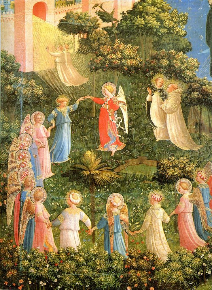 The Last Judgement (Left Side) by Fra Angelico. I totally hate the opposite side to this painting. Praise God for His salvation.