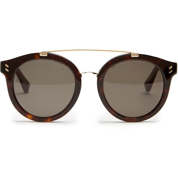 Stella McCartney Round-frame acetate sunglasses (690 BRL) ❤ liked on Polyvore featuring accessories, eyewear, sunglasses, glasses, oculos, tortoise sunglasses, oval glasses, tortoiseshell glasses, stella mccartney glasses and tortoise shell glasses