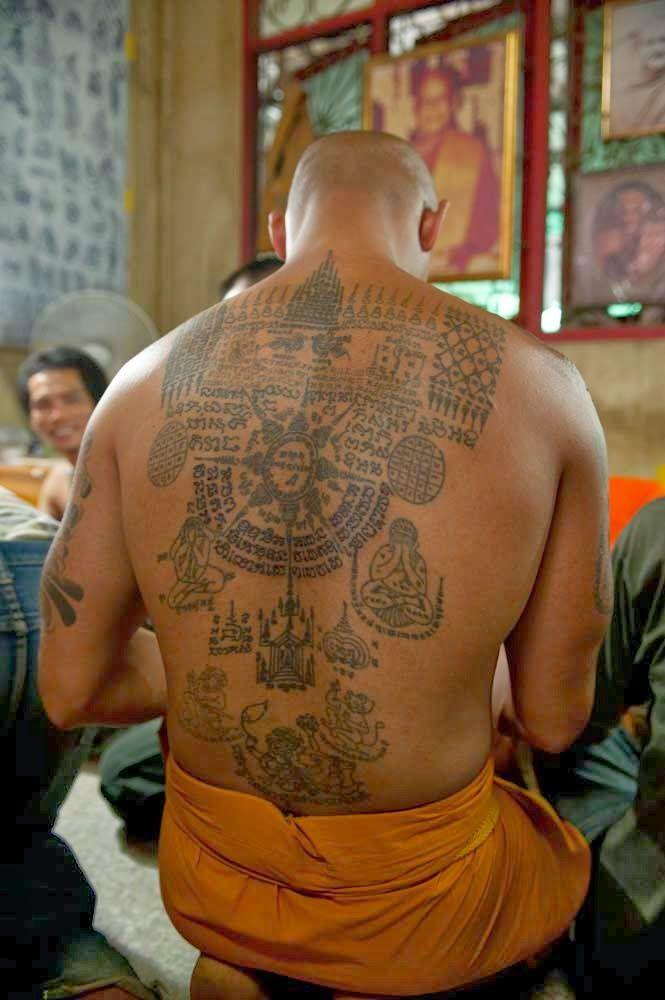Traditional Thai tattoo [sak yant ink]