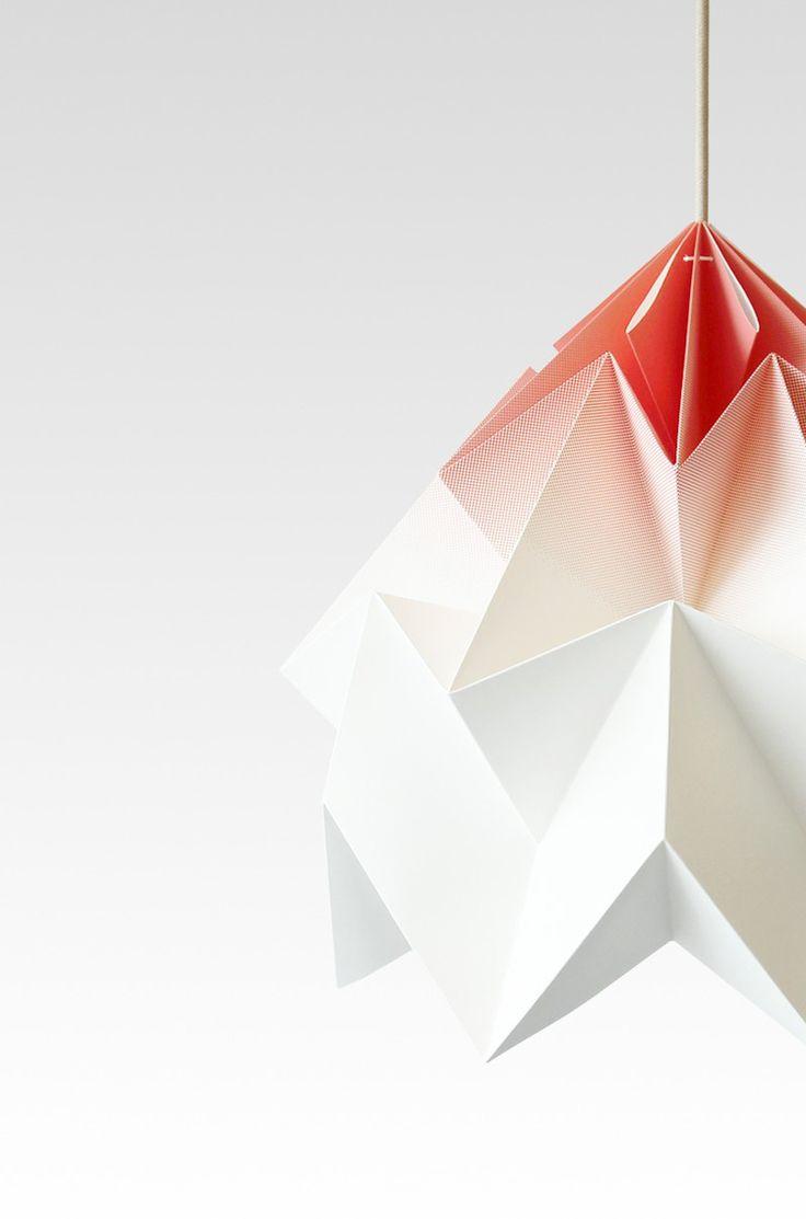 Details we like / Lamp / paper / White / Red Dot Print / at IndustrialDesigners.co   Studiosnowpuppe - Moth Lamp