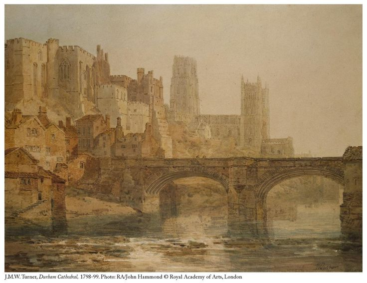 """Royal Academy on Twitter: """"JMW Turner RA was #bornonthisday in 1775. He was elected an Associate of the RA at just 24 and painted 'Durham Cathedral' the same year. https://t.co/hvTkjNWpCu"""""""