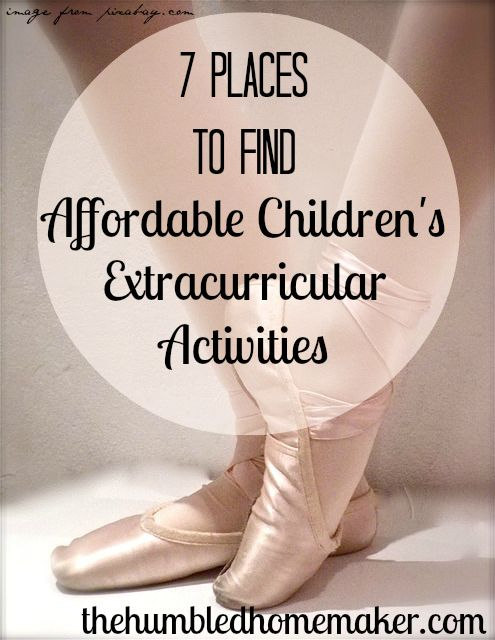 7 Places to Find Affordable Children's Extracurricular Activities - The Humbled Homemaker
