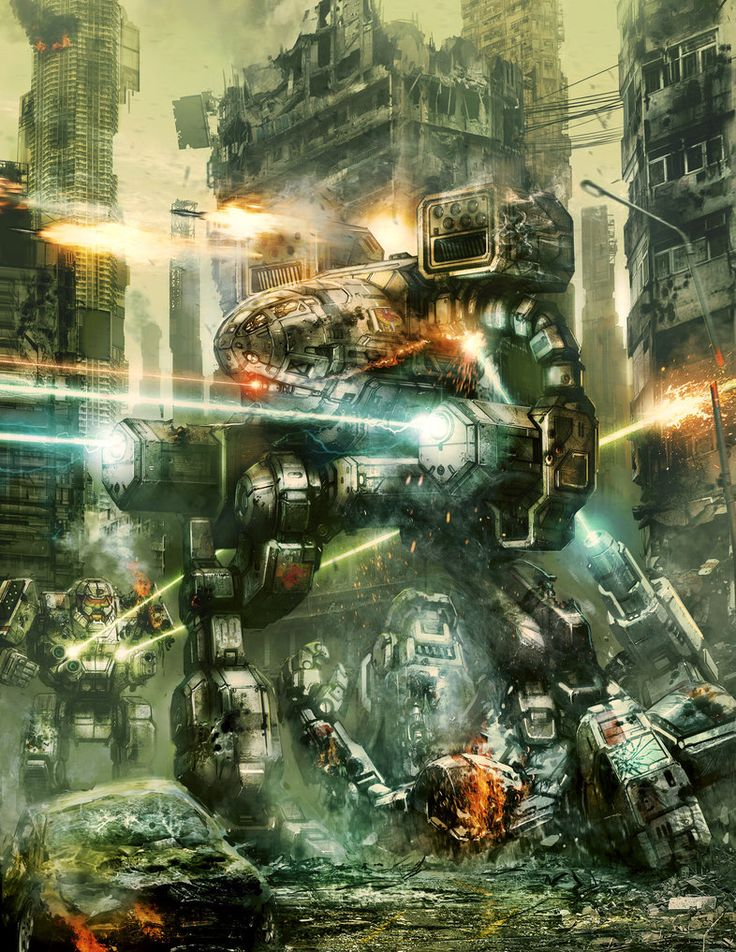 Alpha Strike Cover by flyingdebris | Digital Art / Drawings & Paintings / Sci-Fi | Concept Futuristic Technology Weaponry Battlemech Mech Mechwarrior Timberwolf Madcat OmniMech