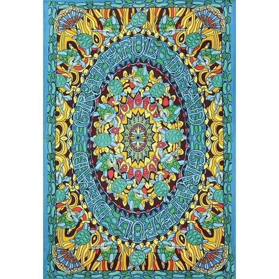 "Handmade 100% Cotton Grateful Dead ""Terrapin Dance"" Psychedelic Tapestry Dorm, Multi"