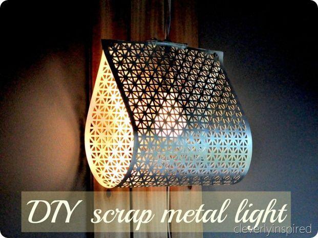 DIY scrap metal light
