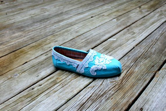 Wedding TOMS Lace TOMS Custom TOMS by TheCrystalSlipper on Etsy