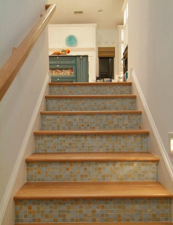 De 25 populairste idee n over behang trappen op pinterest trappen structuur behang en houten - Trap ijzer smeden en hout ...