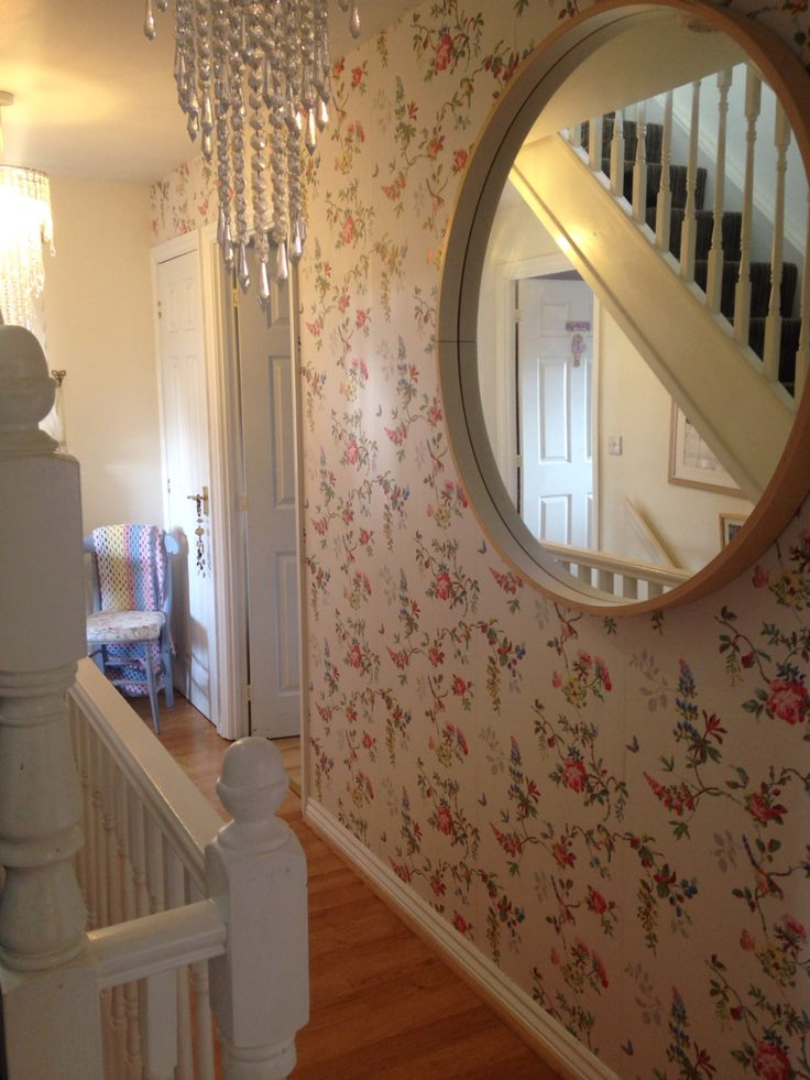 My hallway with gorgeous Cath kidston wallpaper