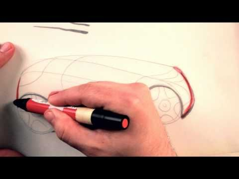 How To Draw Cars: Using Markers - YouTube