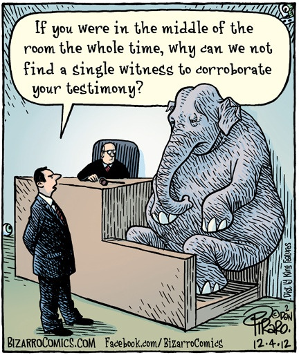 Bizarro by Dan Piraro. The (alleged) elephant in the room.
