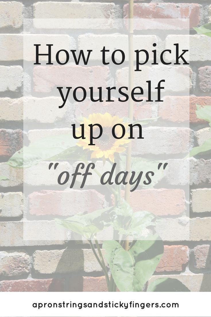 Bad days...we all have them. But we don't have to let our gloomy mood get the better of us. I've got a bunch of easy peasy ways to pick yourself up on off days.