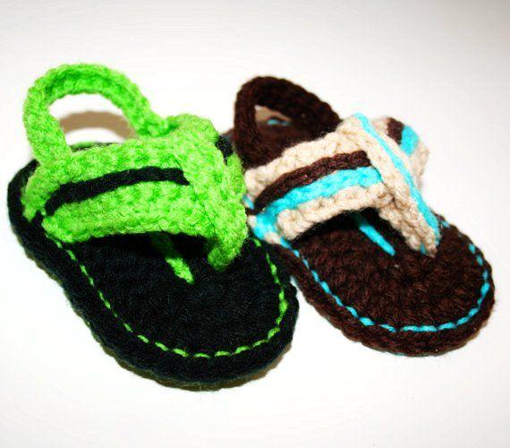 crochet flip flops free pattern | Crochet: Crochet Pattern - Baby Flip Flops…