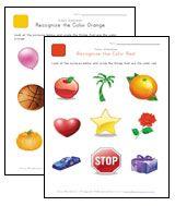 Teach Children Colors - Printable Color Worksheets
