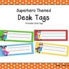 This file contains 8 pages of superhero themed desk tags.  Each tag measures approximately 3.5 x 10.5 inches.  For best results, print onto card st...