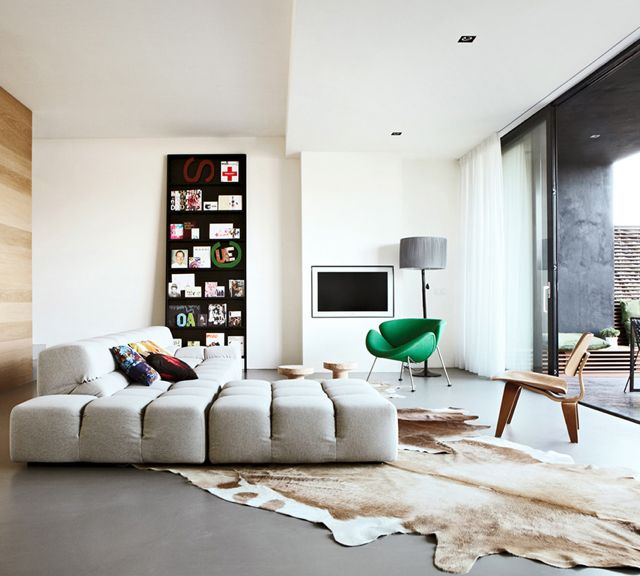 Large couch and green chair