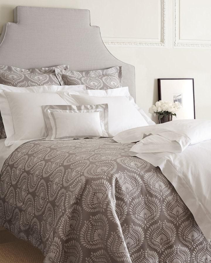 Annie Selke Luxe Trinita Damask Bedding. Egyptian-cotton