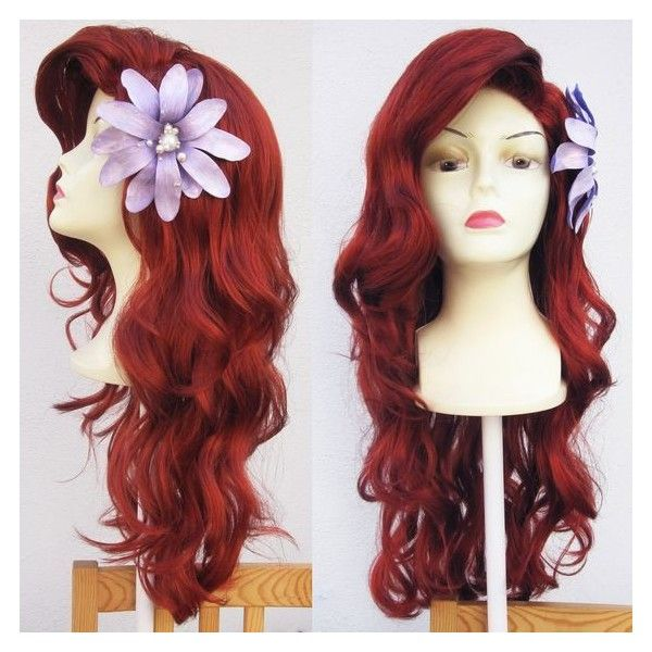 Ariel Little Mermaid Custom Adult Costume Wig Style 1 A True... ❤ liked on Polyvore featuring costumes, adult ariel costume, adult little mermaid costume, red wig costume, adult costume and adult halloween costumes