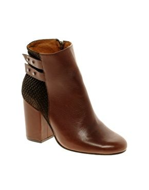 Whistles Stinger Brown Strapped Ankle Boots