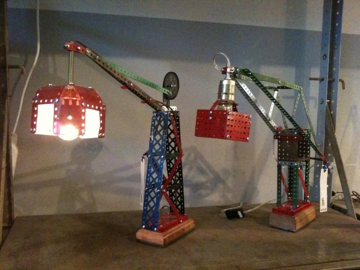 Meccano lamp by Piet Hein Eek.