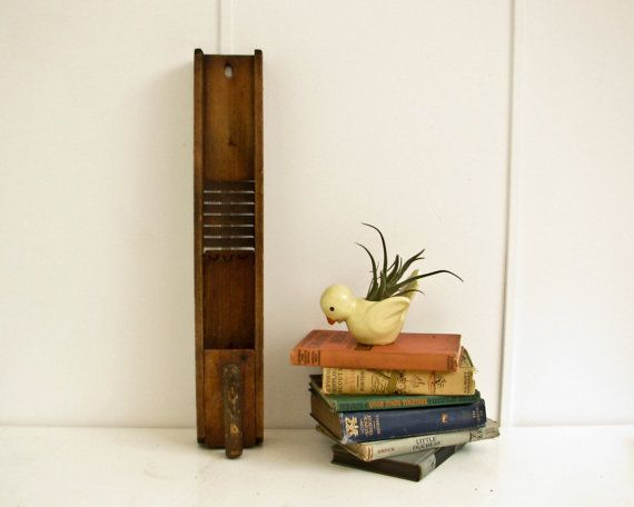 Antique Mandolin Vegetable Slicer Rustic Kitchen by BeeJayKay