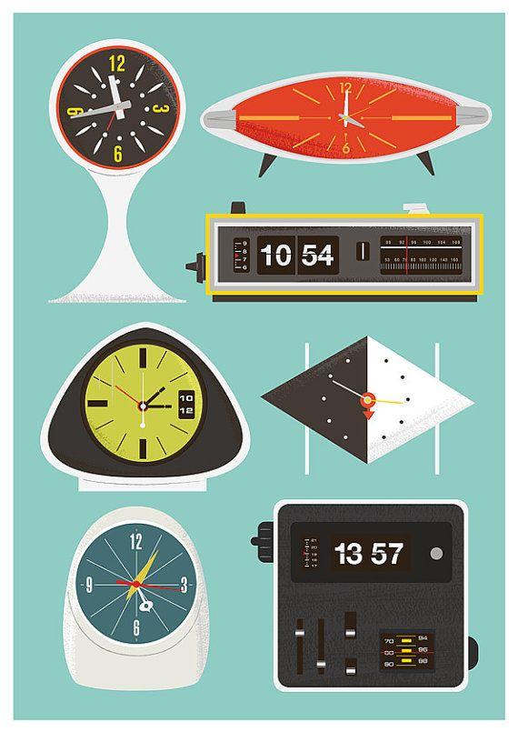 Les 25 meilleures id es de la cat gorie horloge flip sur - Idees decors du milieu du siecle salon ...
