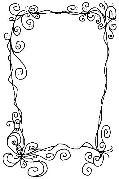 doodle swirl border | Doodles, Drawing & Journaling ...
