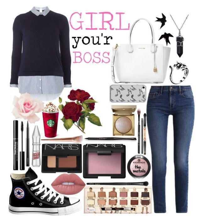 """""""Girl you'r boss"""" by emmely201 on Polyvore featuring Calvin Klein, Dorothy Perkins, Bling Jewelry, Converse, MAC Cosmetics, Lime Crime, Benefit, NARS Cosmetics, Laura Mercier and INIKA"""
