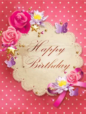 Pink Polka Dots Happy Birthday Card