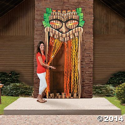 Grand Tiki Entrance | Doesn't your luau deserve this classic luau decoration? Of course it does! Treat your party guests to this grand entrance. #party