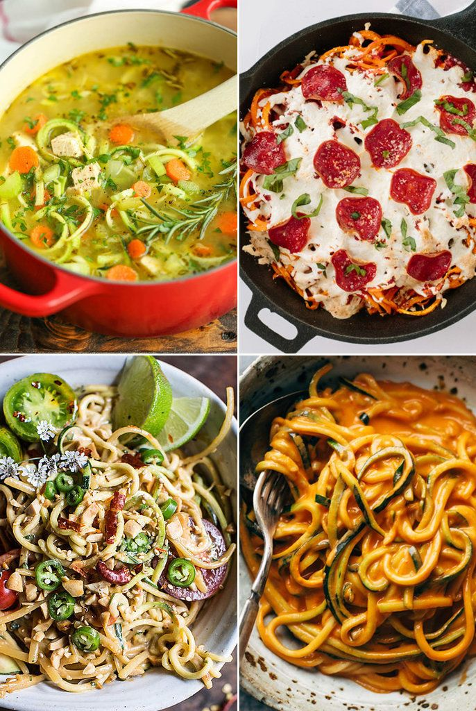 A veggie spiralizer can transform zucchini and sweet potatoes into marvelous noodle-like strands. It's by far the most fun way to sneak some veggies into your diet (as well as lighten up the carb load). As for the taste? These recipes are heavy on flavor. Please meet chicken zoodle soup and spiralized sweet potato pizza, among many other new comfort food favorites.