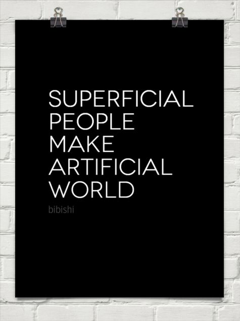 Superficial People Quotes. QuotesGram