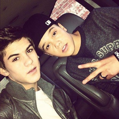 Cole Pendery and Dana Vaughns ❤ IM5 one looks like hunter hayes and the other justin bieber