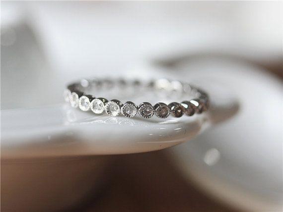 14kWhite Gold Diamond Wedding Band Diamond Wedding Ring by ByLaris on Etsy