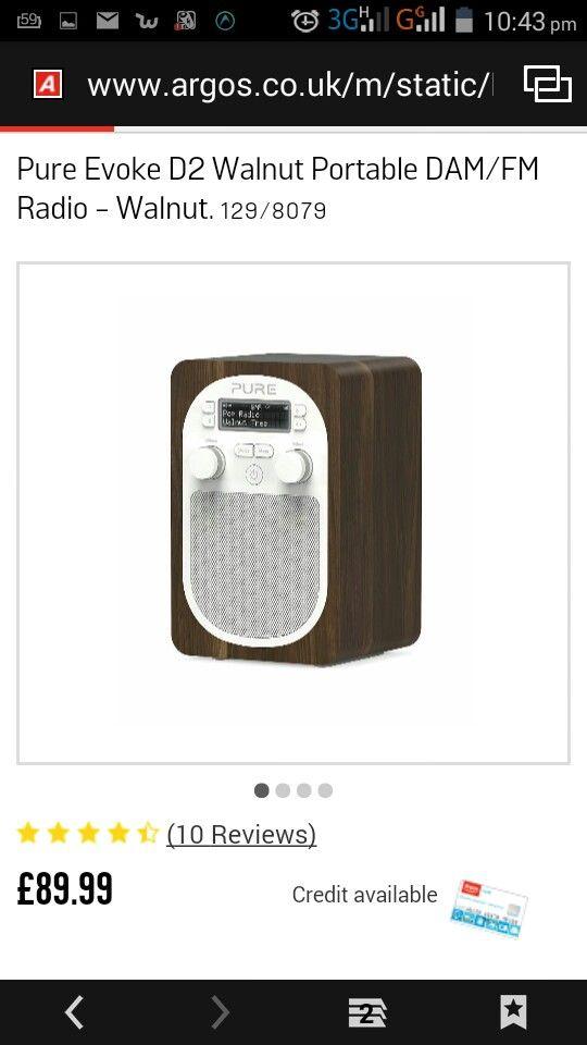 Walnut DAB radio