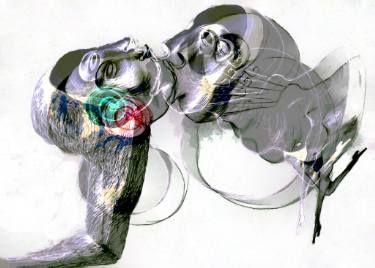 """Saatchi Art Artist Ioana Serban; New Media, """"The Kiss"""" #art"""