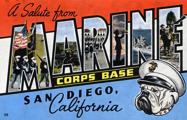 Camp Pendleton, Marine Corps Base, San Diego, California - Large Letter Postcard. Went here for a field trip with my science club.
