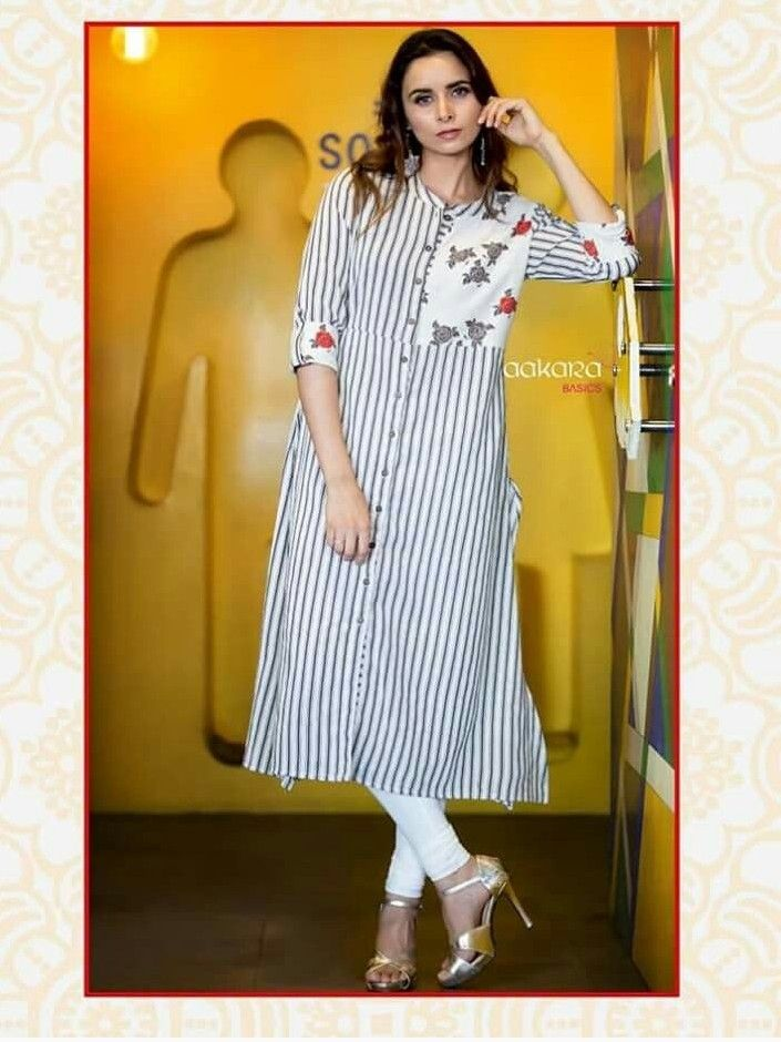 Beautiful Cotton Kurti With Brilliant Detailing With Images