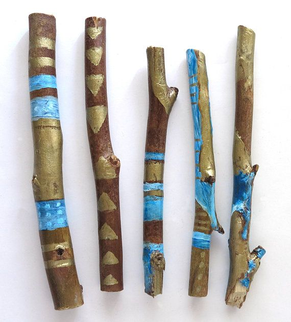 Painted Sticks via Etsy