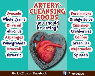 Healthy food for artery cleaning