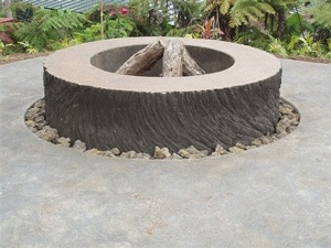 Concrete fire pits fire pits and fire on pinterest for Fire pit on concrete slab