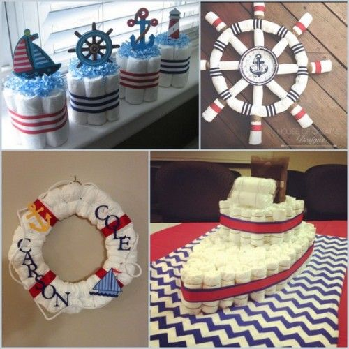 23 best images about nautical baby shower on pinterest for Baby shower nautical decoration