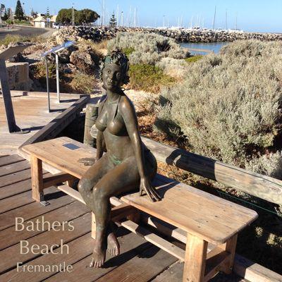 Bathers Beach, Fremantle, WA - Statue