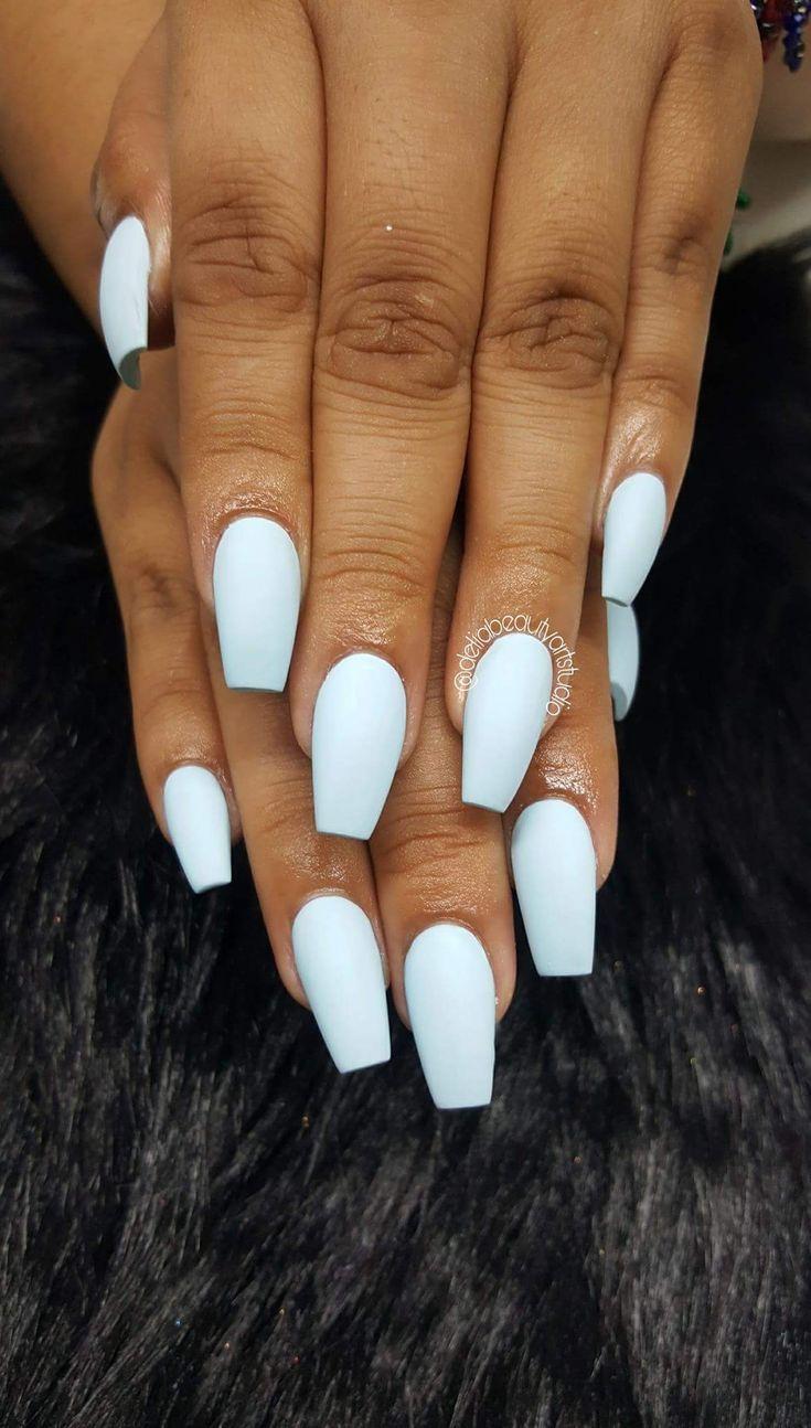 Acrylnagel Baby Blaue Nagel Acrylnagel Baby Blue Nails Long Acrylic Nails Spring Break Nails