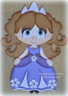 Disney Princesa Sofía Premade Scrapbooking adorno por MyCraftopia