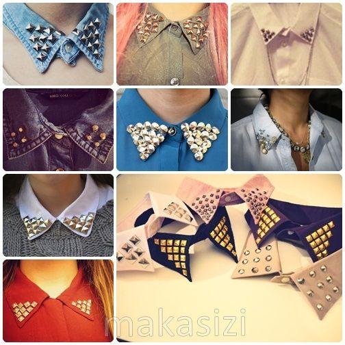 Pretty studded collars #studs #fashion