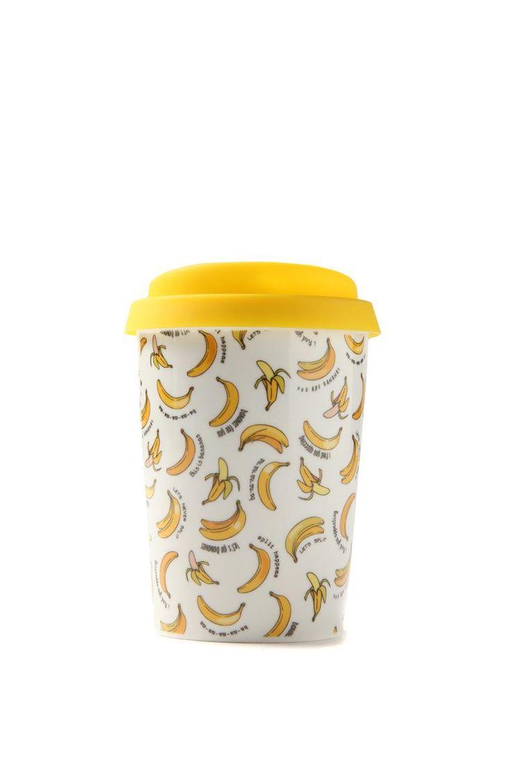 mini take away mug, BANANAS
