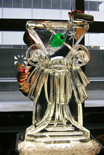 Classic Martini Luge Ice Sculpture  _Weddings _Events _Luges _Corporate Events